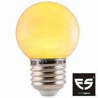 LED Kogellamp E27 Geel